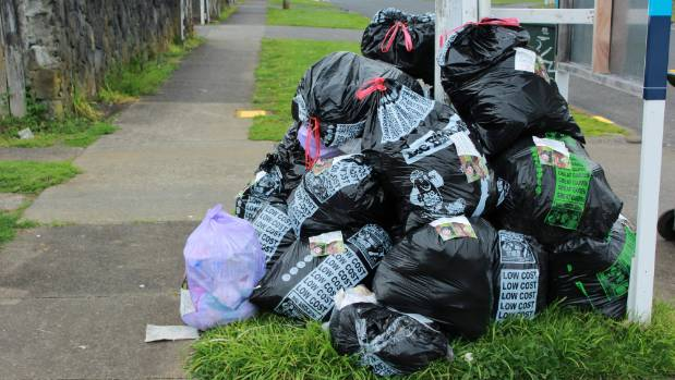 Pickitup workers start to clear areas affected by rubbish blockage